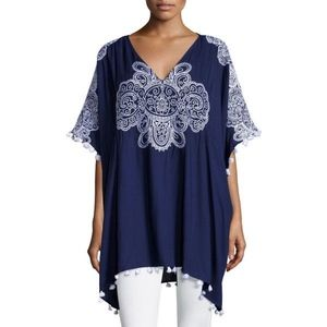 Nanette Lepore Henna Embroidered Cover-Up Caftan
